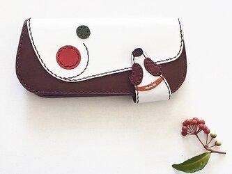 巻き姿長財布(赤×緑)の画像