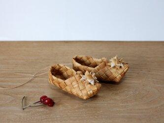白樺の星飾りのミニ靴 の画像