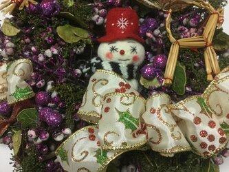 ブルーベリーのクリスマスツリーの画像