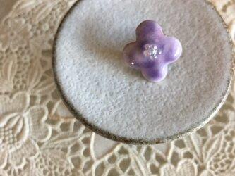 七宝 小さな花のブローチの画像