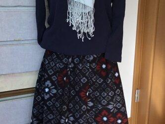 SALE*絣のスカート*赤の菱花の画像