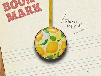 「レモン柄のクリップ型ブックマーク」No.233の画像