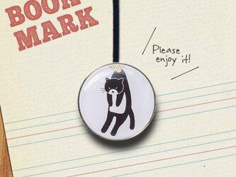 「自分では動きたくない黒猫のクリップ型ブックマーク」No.234の画像