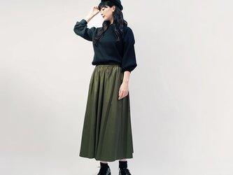 チノタイプ カーキ グリーン 綿混 ロングスカート オリーブ 深緑 ●NATALIE●の画像