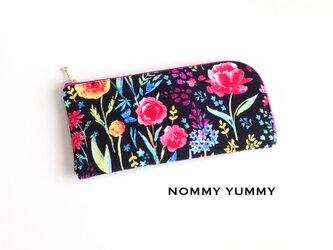 L字ファスナー長財布   満開の花々  *218*の画像