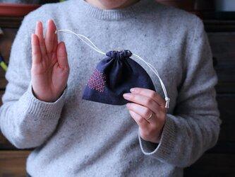 刺繍の巾着袋013の画像