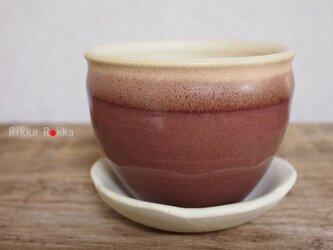 植木鉢受け皿セット【小豆色・あずきいろ】の画像