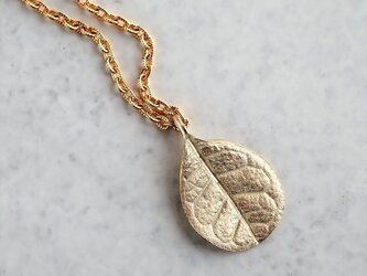 Feijoa leaf necklace (small) {P076K10}の画像