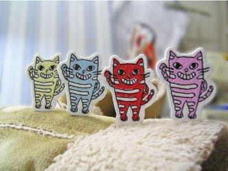 野良猫ヤローとその仲間達★ワッペン★4色セットの画像