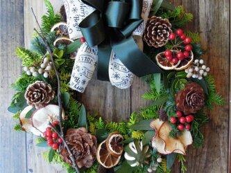 『送料無料』*6 Fresh Xmas Wreath クリスマス リースの画像