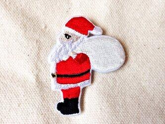 刺繍ブローチ 「サンタクロース」の画像