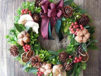 『送料無料』*5 Fresh Xmas Wreath 2018 クリスマス リースの画像