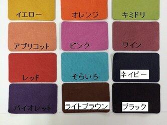 ピッグスキンの革 色見本の画像
