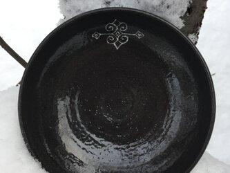 Sold out アイヌ模様 中鉢 陶器 黒の画像