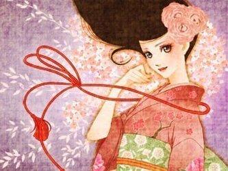 大正ロマンポストカード『春風』の画像