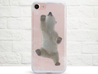 【人気商品】Baby Polar Bear Walking on My Frozen iPhone クリアソフト ケースの画像