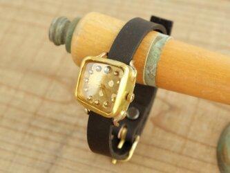 しかくいゆらぎの時計 SQ dot gold_f Y003_fの画像