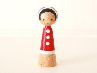 [conocokeshi]指人形・hand puppet[24]赤ふわ。ずきんの画像