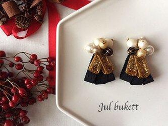 Jul bukett:クリスマスの花束(gb) - ピアスの画像