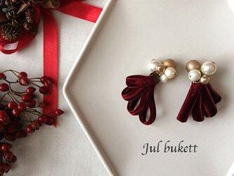 Jul bukett:クリスマスの花束 (rp)- ピアスの画像