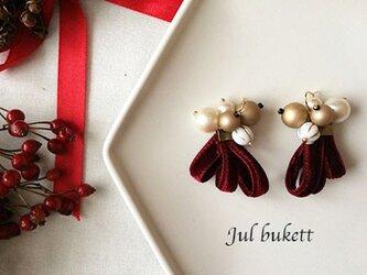 Jul bukett:クリスマスの花束(rg) - ピアスの画像