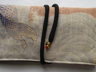 送料無料 羽織の裏地で作った和風財布・ポーチ 3117の画像