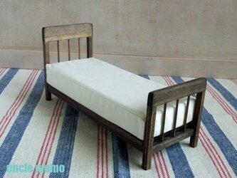 ドール用ベッド SS(色:エボニー) 1/12ミニチュア家具の画像