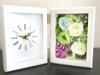 花フレーム時計の画像