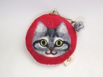 いろいろ使える猫顔フェルト(さばとら)の画像