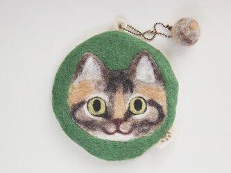 いろいろ使える猫顔フェルト(むぎわら)の画像