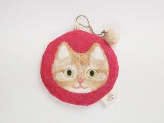 いろいろ使える猫顔フェルト(ちゃとら)の画像