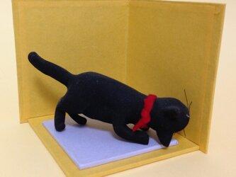 猫の粘土の置物の画像