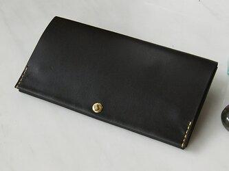 送無!スマート長財布・ブラック(イタリア産牛革) 薄い長財布ですっきり断捨離! caducカデュックの画像