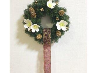 クリスマスローズのリースの画像
