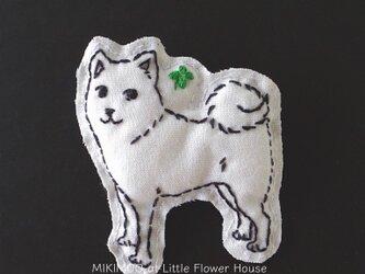 わんにゃんブローチ★ハル(柴犬)の画像