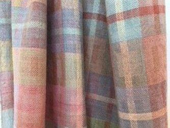 □手織り/植物染料/シルク・カシミア・ウール混ストールの画像