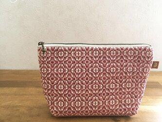 pouch[手織りポーチ]レッドの画像