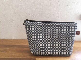 pouch[手織りポーチ]ネイビーの画像