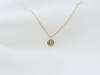 【再制作】ダイヤモンドサーカス 1pプチネックレス K18YGの画像