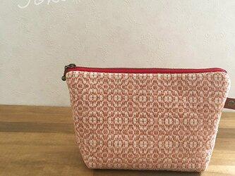 pouch[手織りポーチ]サーモンピンクの画像