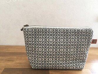 pouch[手織りポーチ]グレーの画像