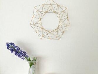 北欧インテリア「真鍮製の1年中飾れるヒンメリリース L(直径33cm)お花なし」の画像