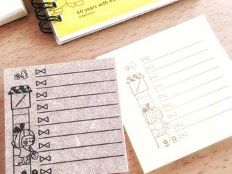 リボンちゃんの付箋用Uto do listの画像