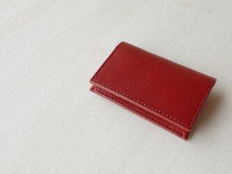 【受注生産】Italian leather Business Card Case/redの画像