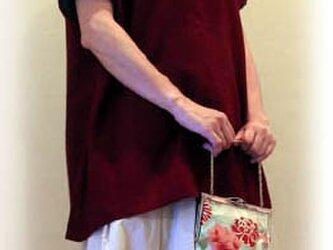 着物地のハンドバッグの画像