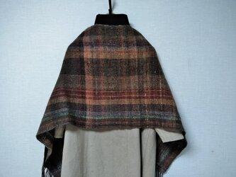 手紬ぎ手織りストール #5の画像