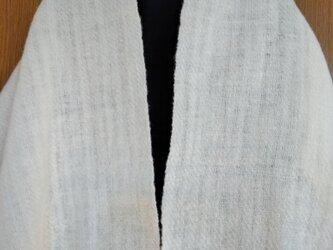 手紡ぎ手織りストール #6の画像