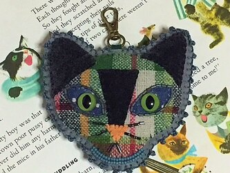 猫顔バッグチャームの画像