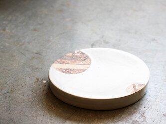白釉たまご台皿(七寸)の画像