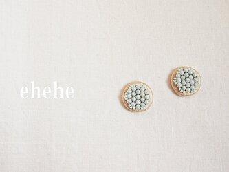 minori-mint刺繍ピアスorイヤリングの画像